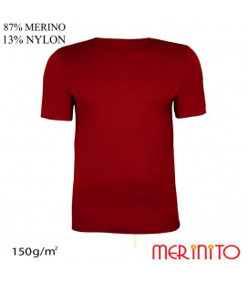 Men's Short Sleeve T-Shirt | 87% merino wool and 13% nylon | 150g/sqm