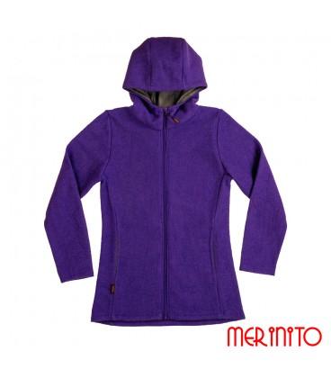 Men's jacket made of boiled merino wool
