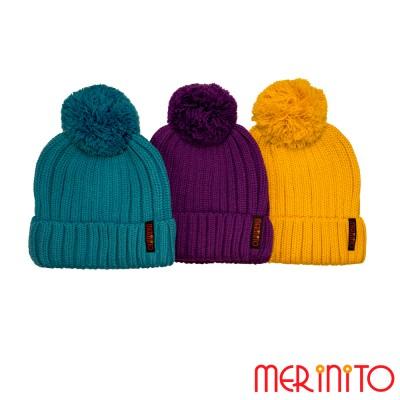 Pom-Mütze für Erwachsene | 50% Merino Wolle und 50% Acryl