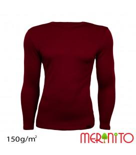 Herren Langarm T-Shirt aus 50% Merinowolle und 50% Modal | 150g/qm