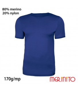 Men's Short Sleeve T-Shirt | 80% merino wool and 20% nylon | 170g/sqm