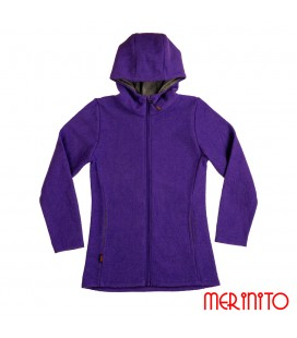 Woman's jacket made of boiled merino wool